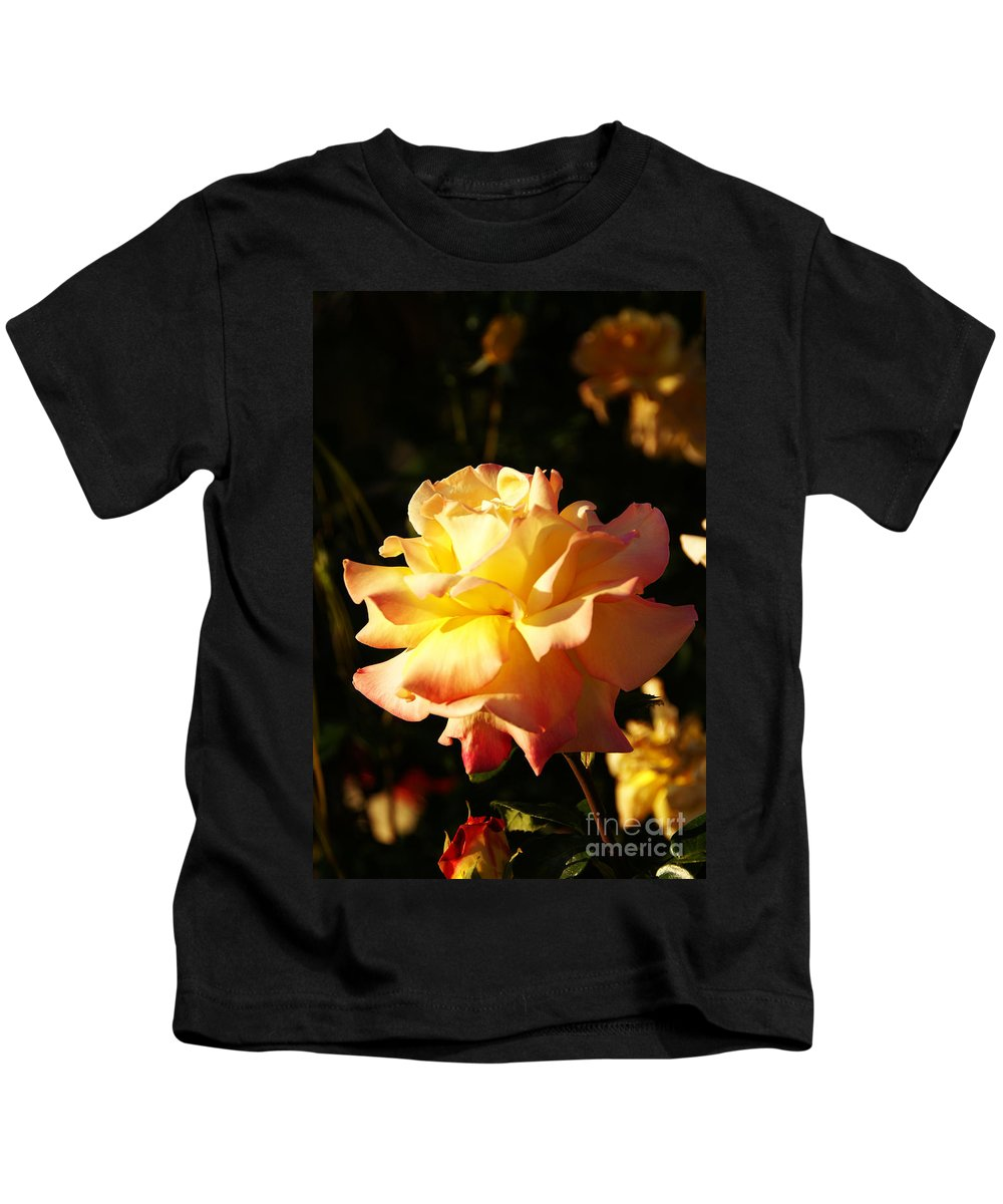 Rose Kids T-Shirt featuring the photograph Together We Stand by Linda Shafer