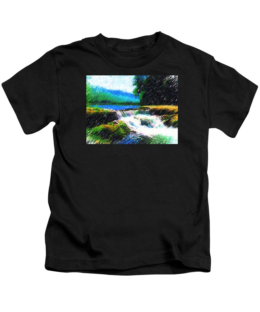 Landscape Kids T-Shirt featuring the photograph Tolhuaca by Madalena Lobao-Tello