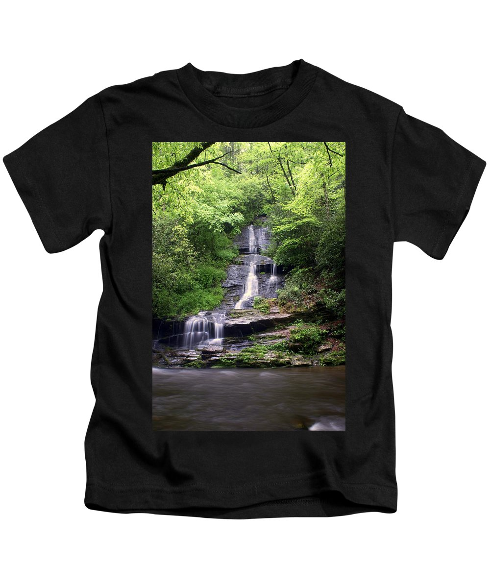 Waterfalls Kids T-Shirt featuring the photograph Tom Branch Falls by Marty Koch