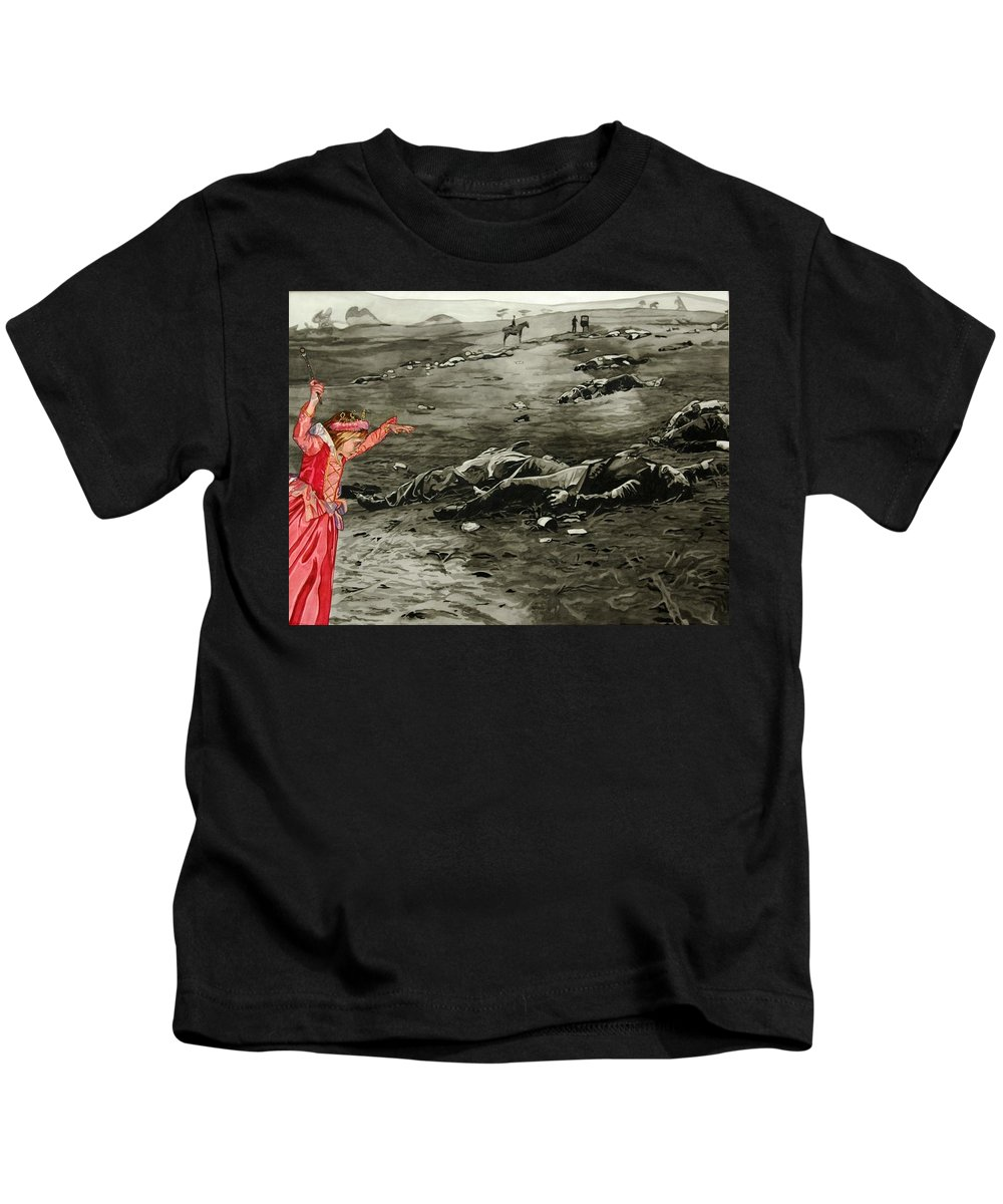 War Kids T-Shirt featuring the painting Too Late by Valerie Patterson