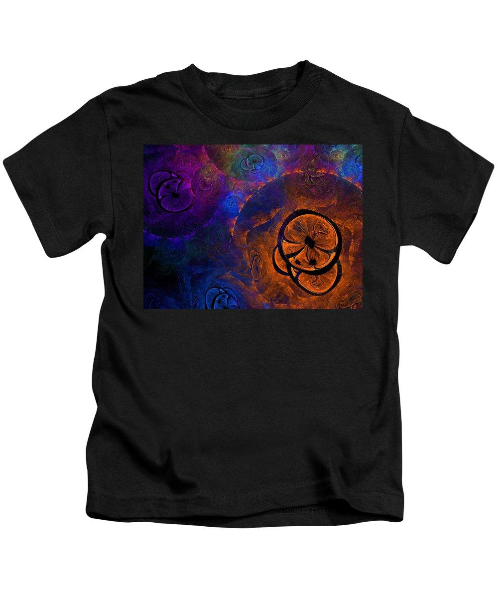 Apophysis Kids T-Shirt featuring the digital art Tootie Fruitie by Lyle Hatch