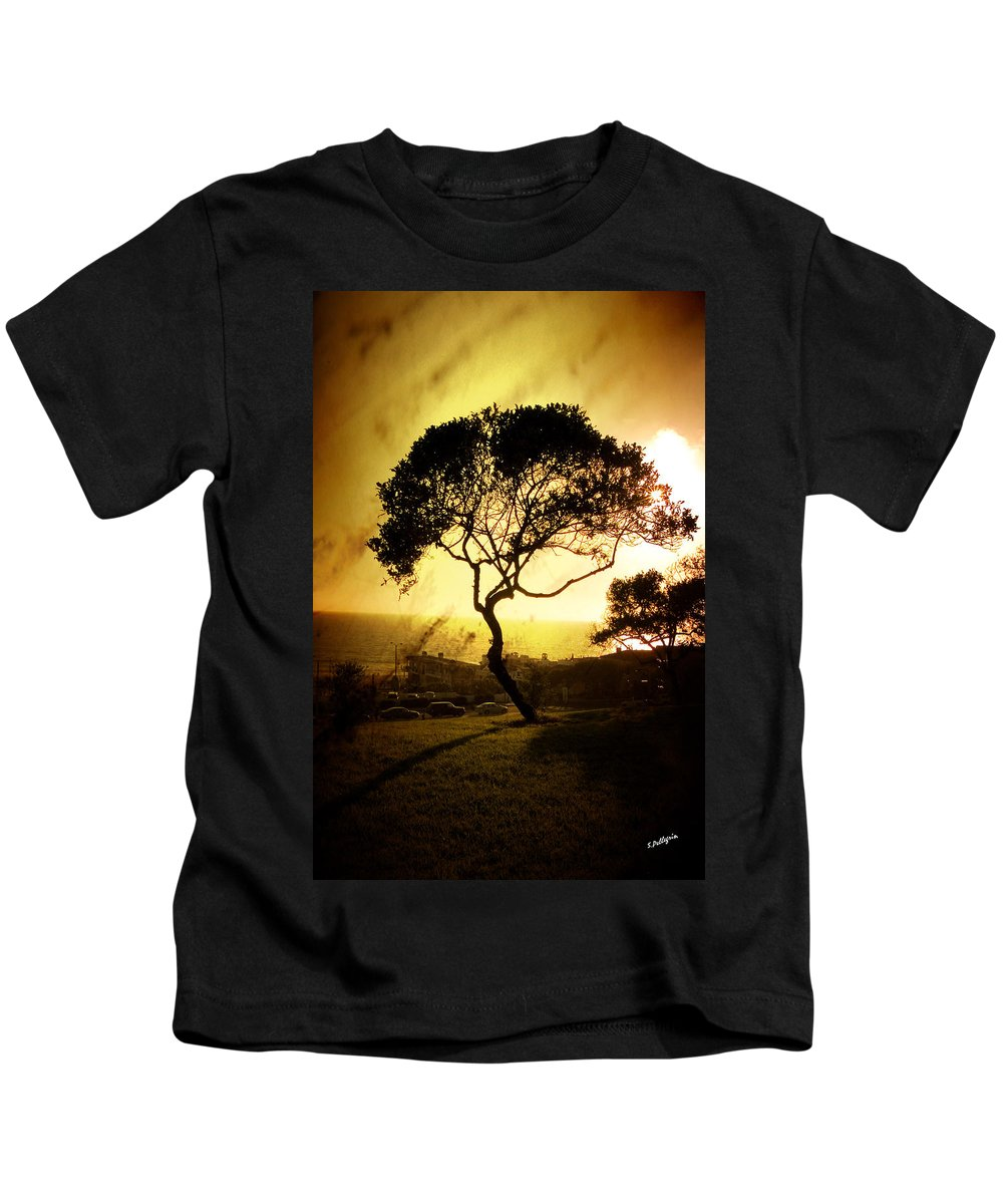 Tree Kids T-Shirt featuring the photograph Top Of The Hill by Scott Pellegrin