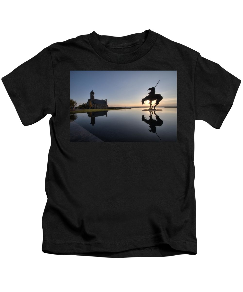 Reflection Kids T-Shirt featuring the photograph @top Of The Rock by Chris Kayser