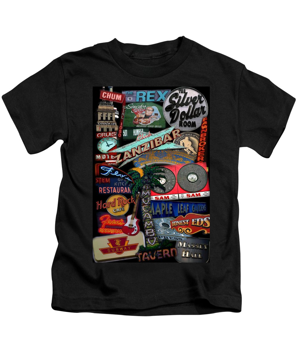 Toronto Kids T-Shirt featuring the photograph Toronto Neon by Andrew Fare