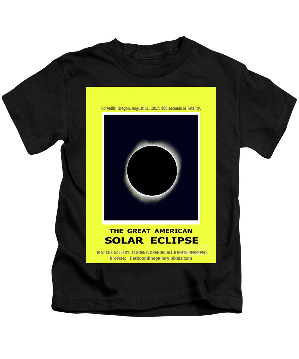 Solar Eclipse. Total Solar Eclipse. Totality. Moon Shadows. American Solar Eclipse 2017. Kids T-Shirt featuring the photograph Totality II by Mike Moore