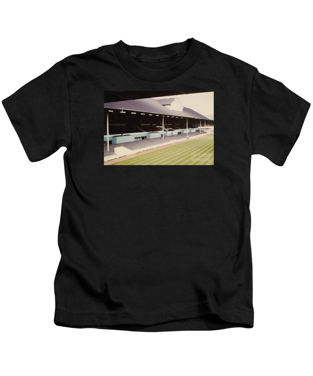 Kids T-Shirt featuring the photograph Tottenham - White Hart Lane - West Stand 1 - Leitch - 1970s by Legendary Football Grounds