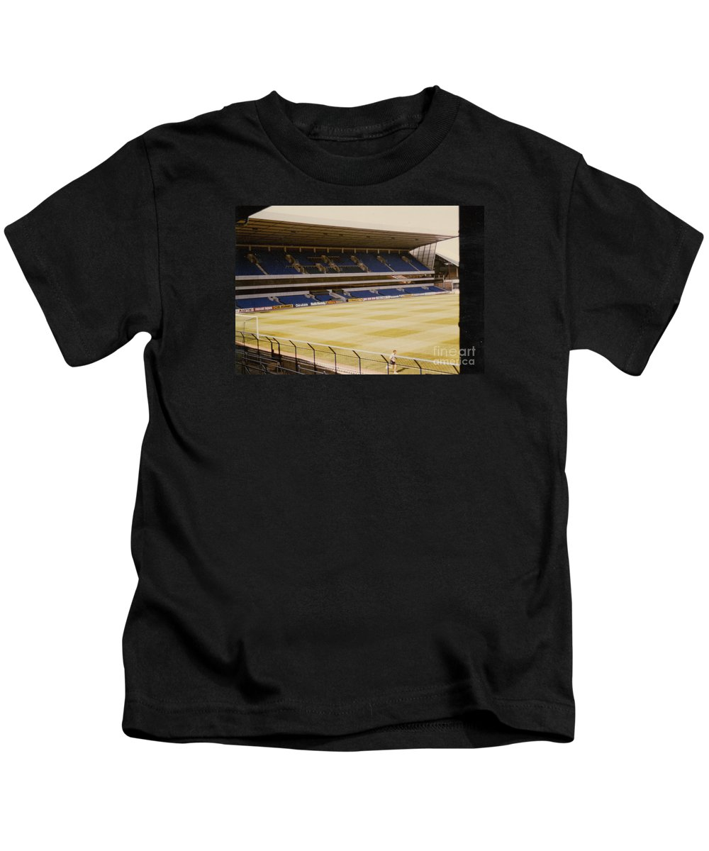 Kids T-Shirt featuring the photograph Tottenham - White Hart Lane - West Stand 2 - 1980s by Legendary Football Grounds