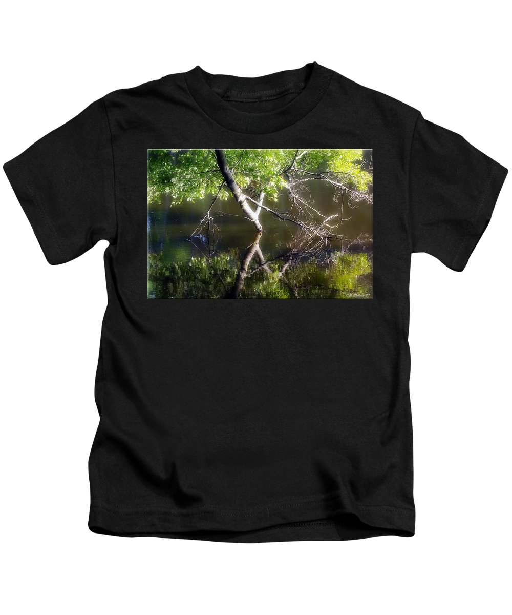 2d Kids T-Shirt featuring the photograph Touch Of Silence by Brian Wallace