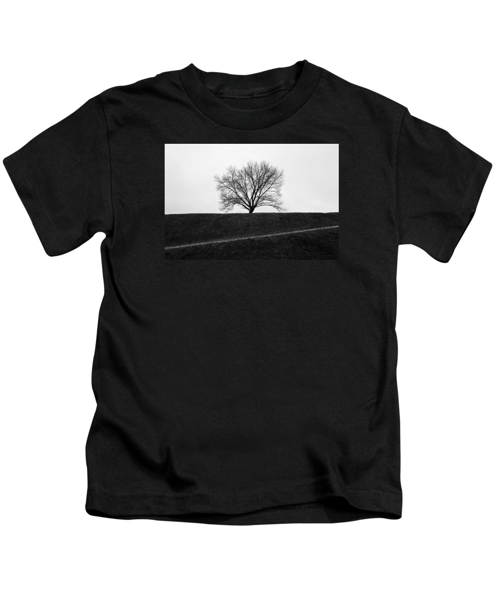 Tree Kids T-Shirt featuring the photograph Towards The Tree by Olivier De Rycke