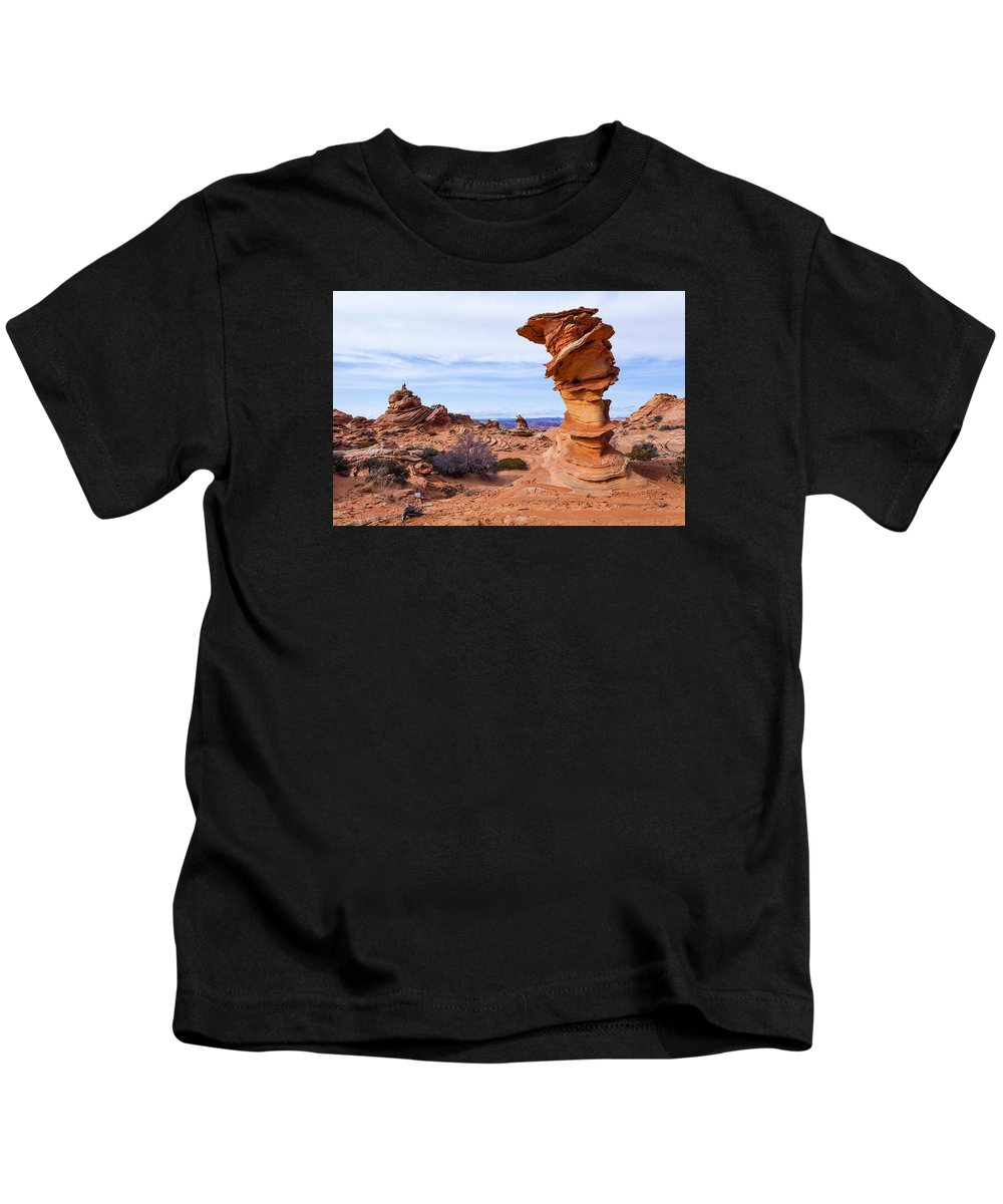 Towerscape Kids T-Shirt featuring the photograph Towerscape by Chad Dutson
