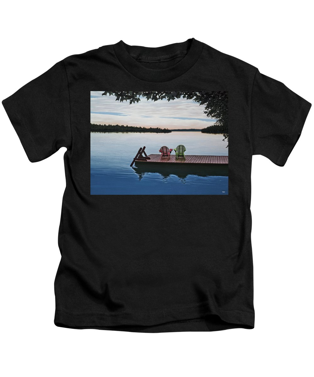 Landscapes Paintings Kids T-Shirt featuring the painting Tranquility by Kenneth M Kirsch
