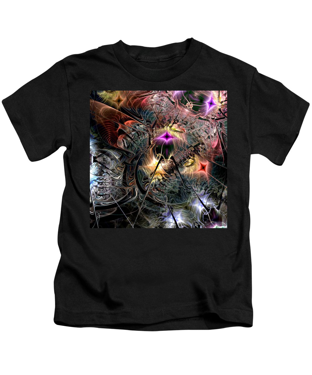 Abstract Kids T-Shirt featuring the digital art Transcendence In Retrograde by Casey Kotas