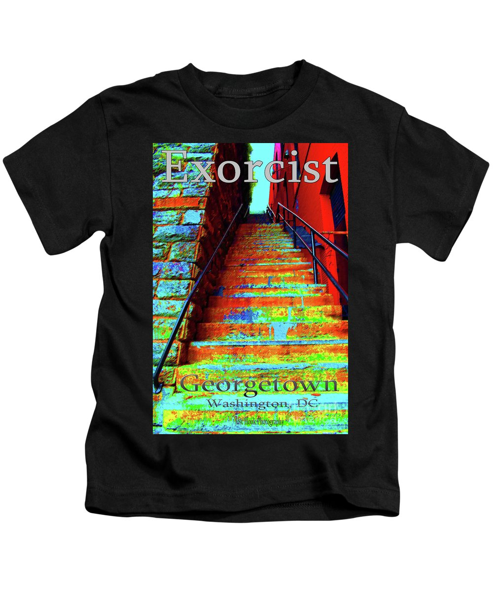 Georgetown Kids T-Shirt featuring the photograph Travel-exorcist Steps by Jost Houk