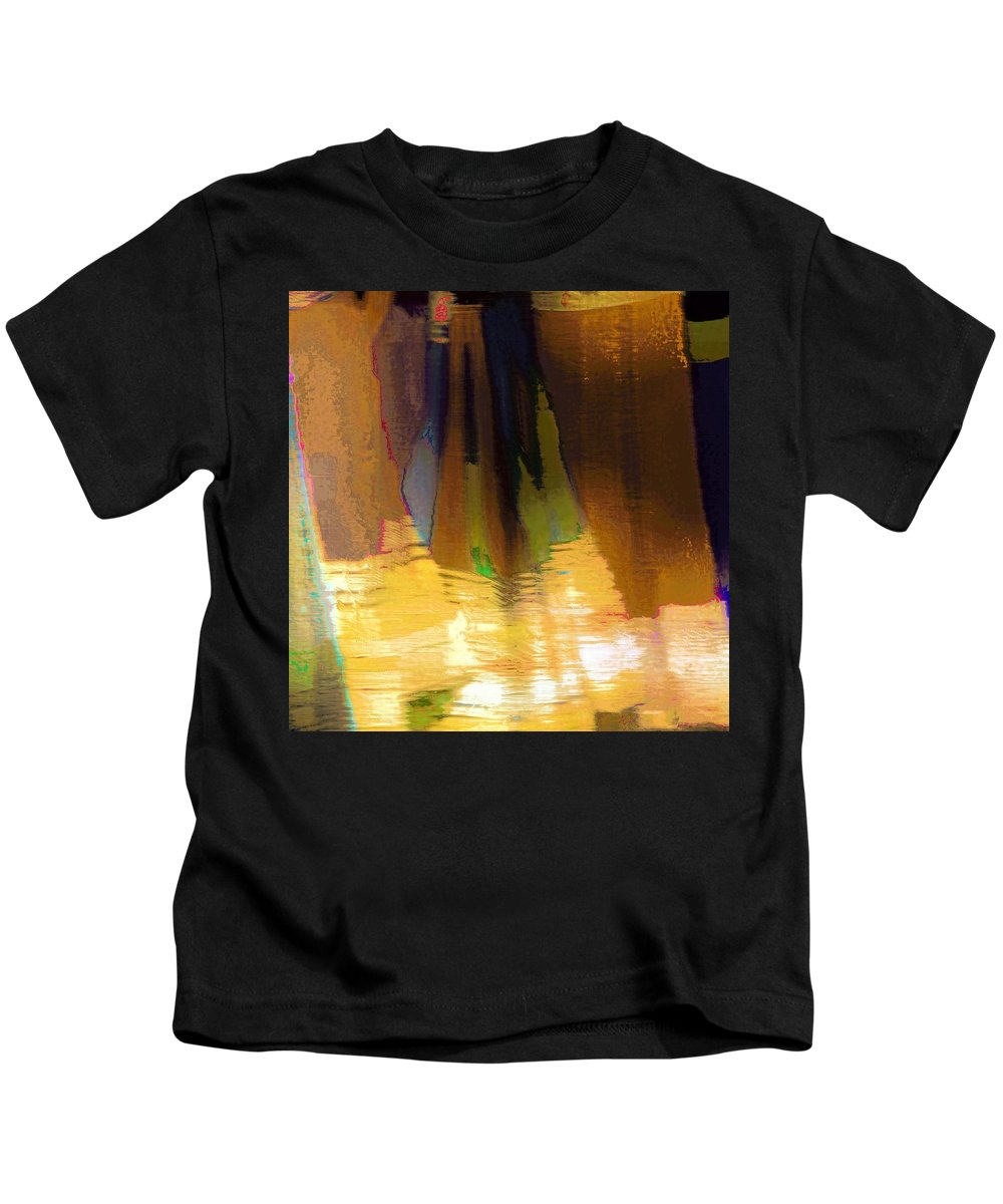 Abstract Kids T-Shirt featuring the photograph Travel Shopping Colorful Scarves Abstract Series India Rajasthan 1j by Sue Jacobi