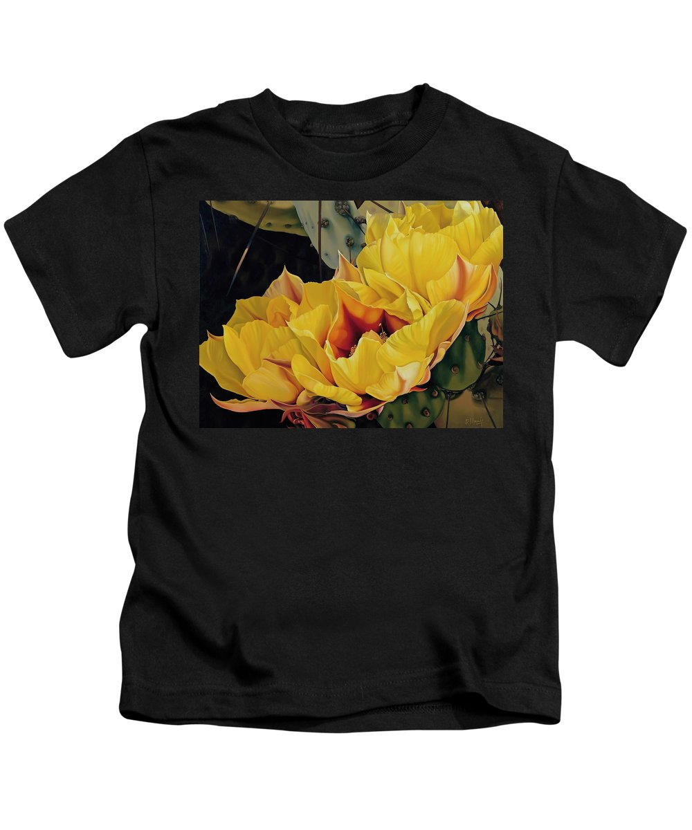 Flower Kids T-Shirt featuring the painting Treasures In Highlight 1 by David Manje