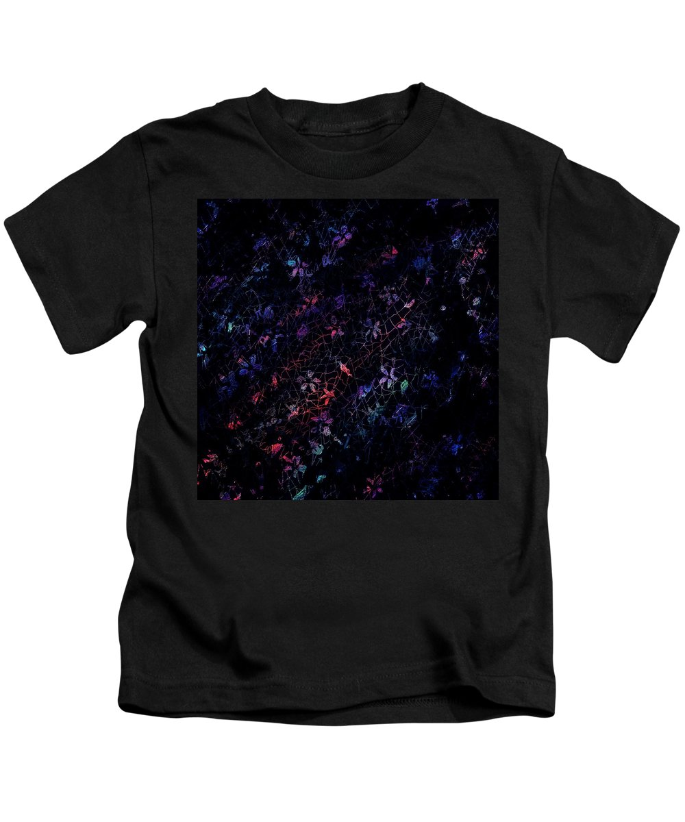 Abstract Kids T-Shirt featuring the digital art Treasures In Lace by Rachel Christine Nowicki