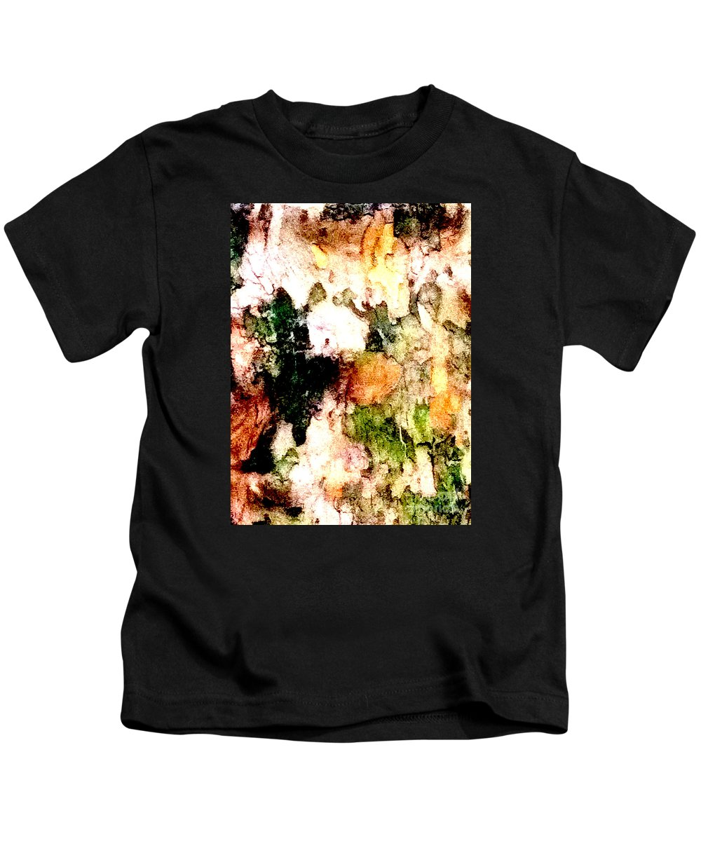 Abstract Kids T-Shirt featuring the photograph Tree Bark 1 Abstract by Ken Lerner