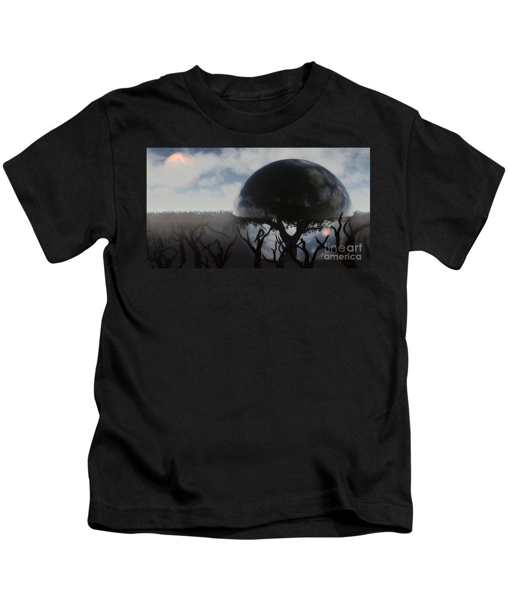 Life Kids T-Shirt featuring the digital art Tree Of Life by Richard Rizzo