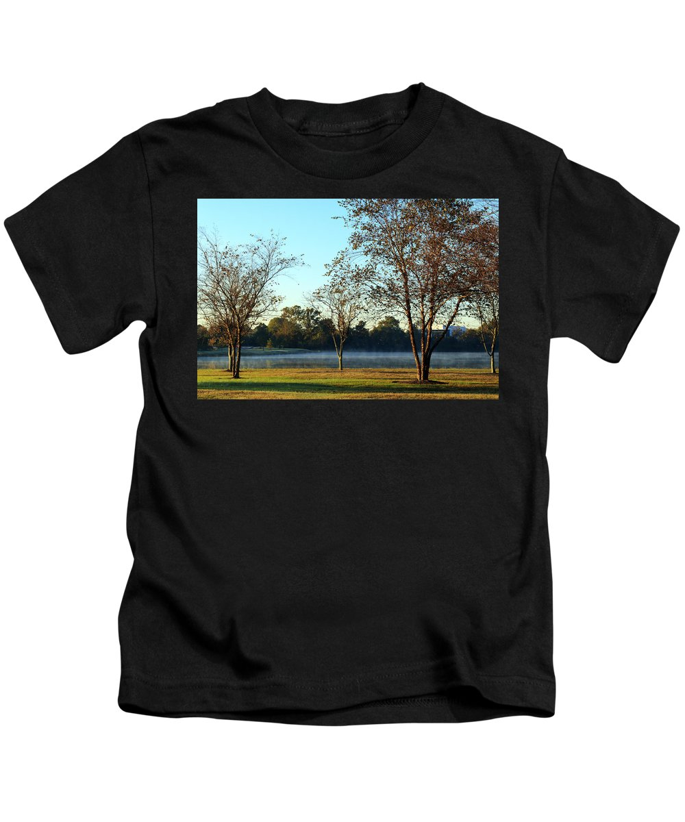 Trees Kids T-Shirt featuring the photograph Trees By The Water by Travis Rogers