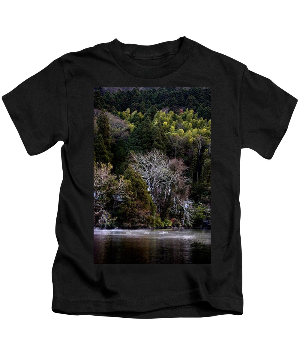 Landscape Kids T-Shirt featuring the photograph Trees In Japan 2 by George Cabig