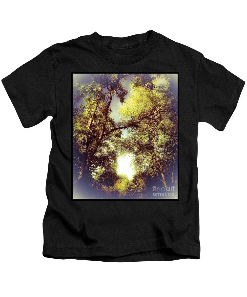 Trees Kids T-Shirt featuring the digital art Trees In Summer by Debra Lynch