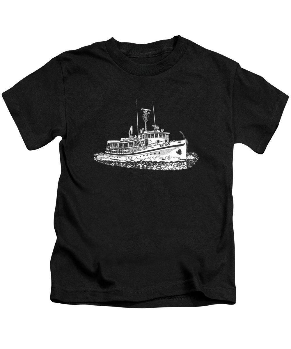 Alaska Drawings Kids T-Shirts
