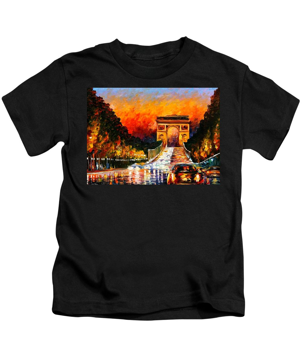 Afremov Kids T-Shirt featuring the painting Triumph by Leonid Afremov