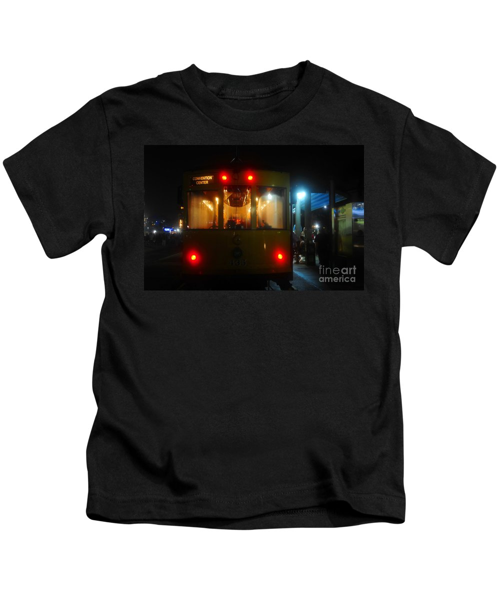Kids T-Shirt featuring the photograph Trolley Car by David Lee Thompson