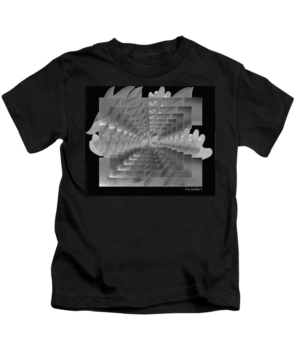 Abstract Kids T-Shirt featuring the digital art Tropical Beauty by Iris Gelbart