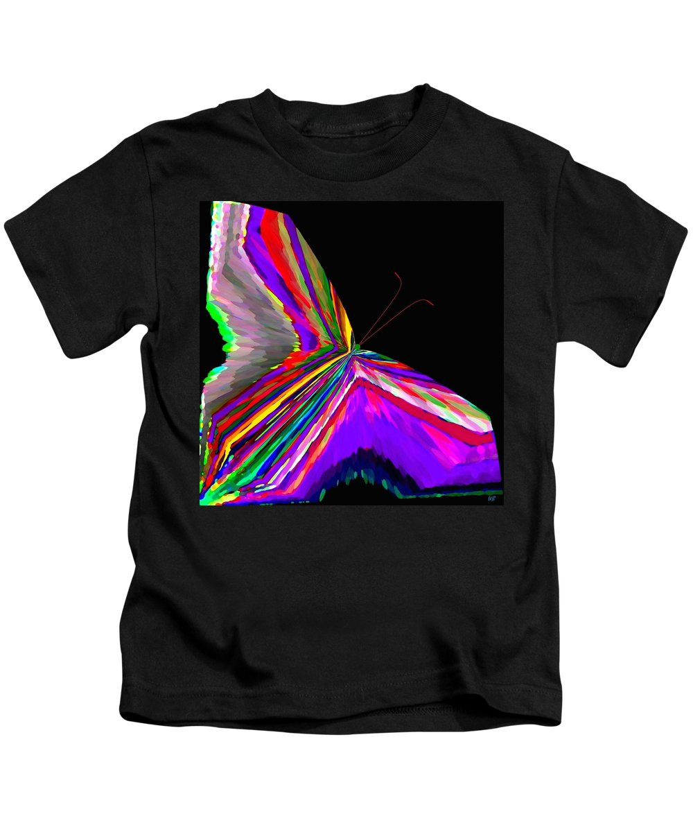 Abstract Kids T-Shirt featuring the digital art Tropical Butterfly by Will Borden