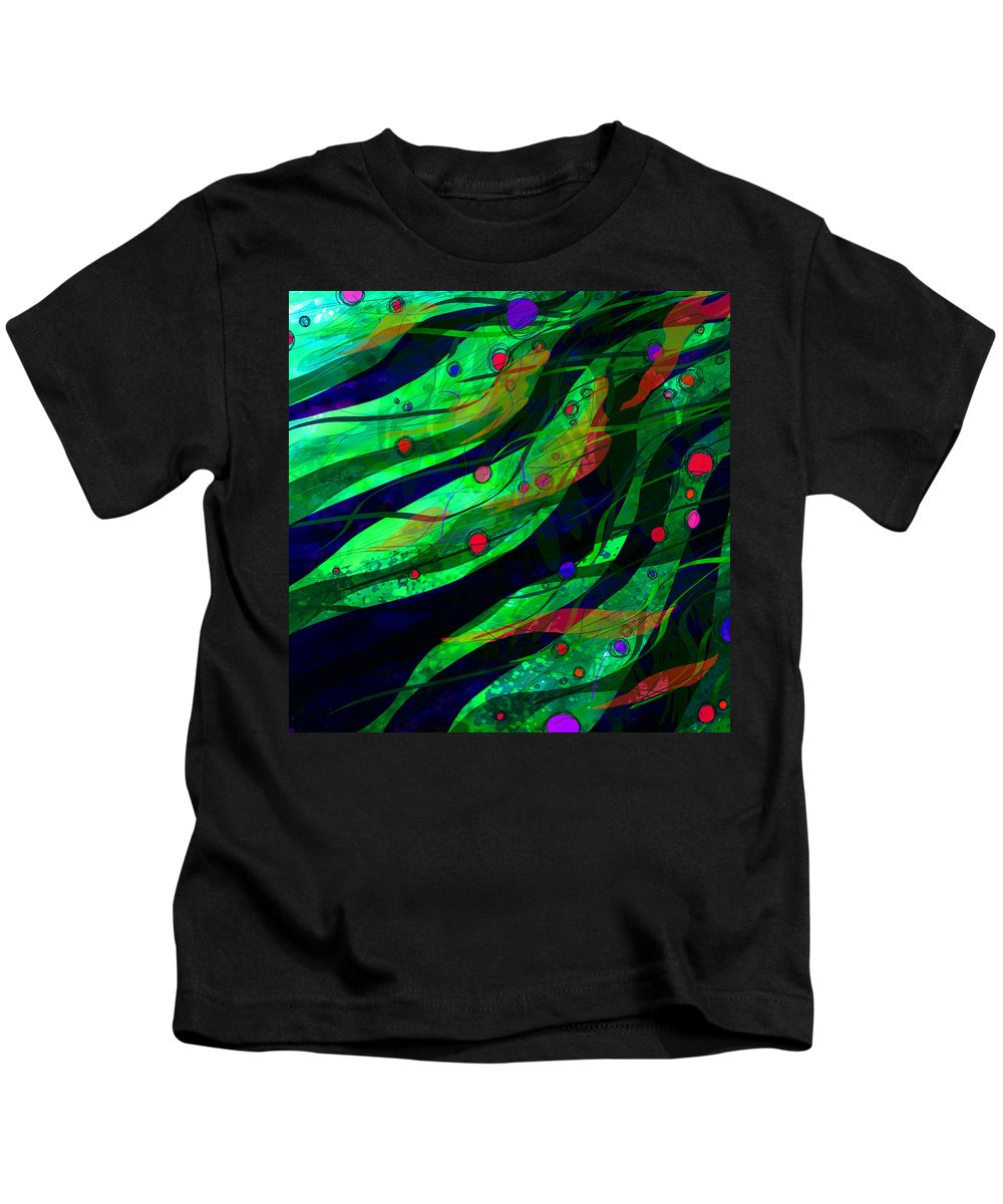 Abstract Kids T-Shirt featuring the digital art Tropical Dreams by Rachel Christine Nowicki