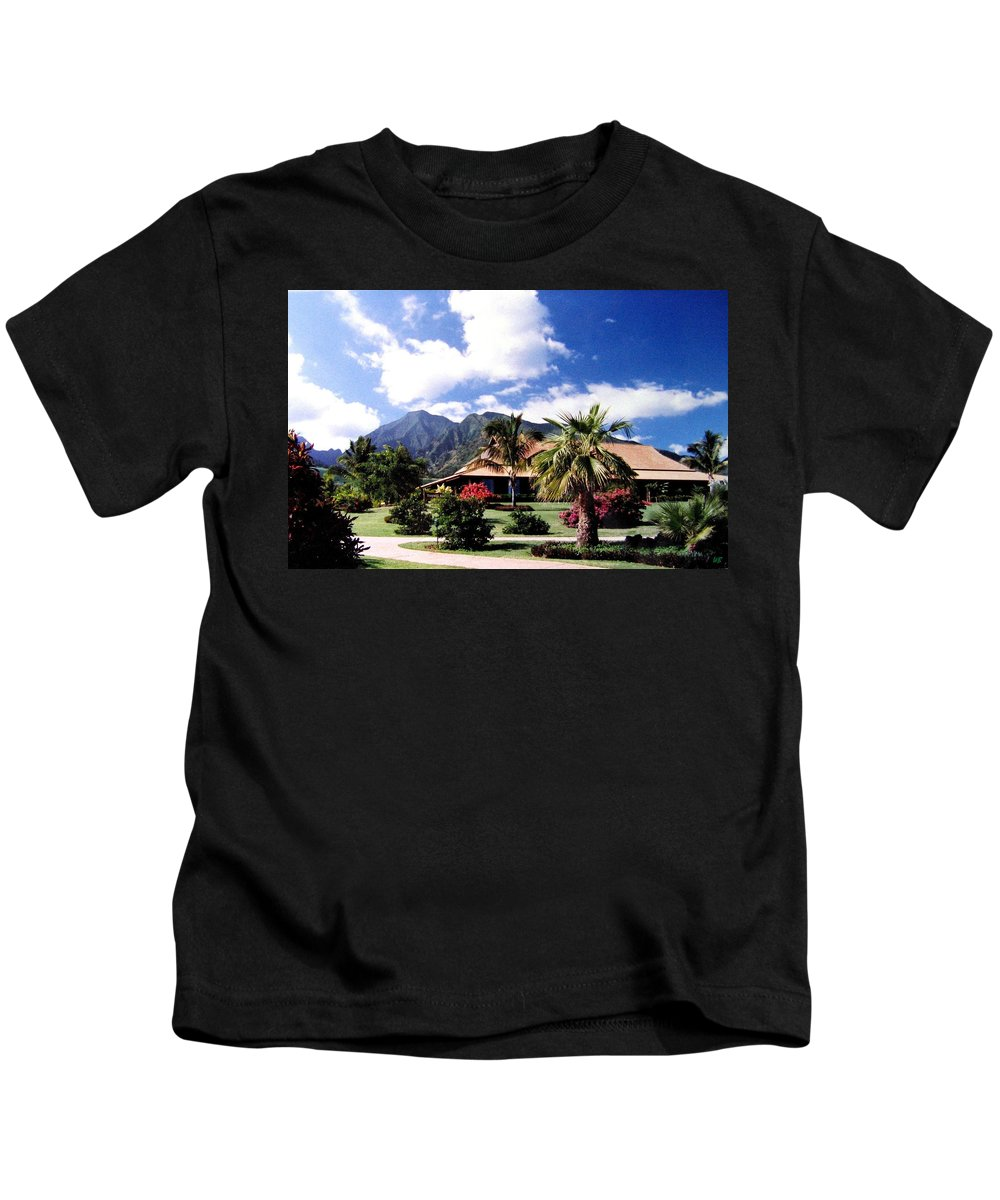 1986 Kids T-Shirt featuring the photograph Tropical Plantation by Will Borden