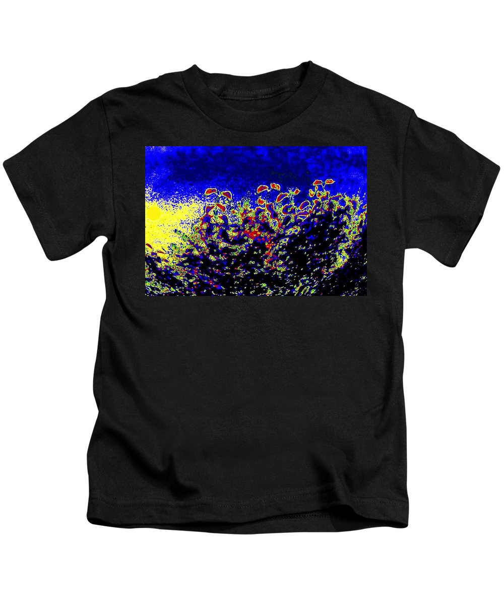 Abstract Kids T-Shirt featuring the digital art Tropical Sunrise 2 by Will Borden