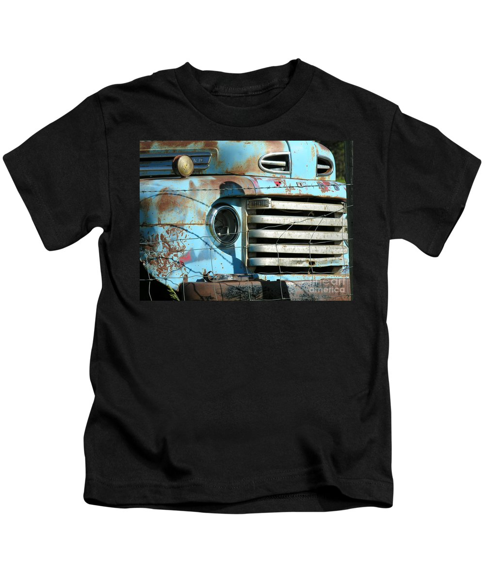Truck Kids T-Shirt featuring the photograph Trucks Life by Diane Greco-Lesser
