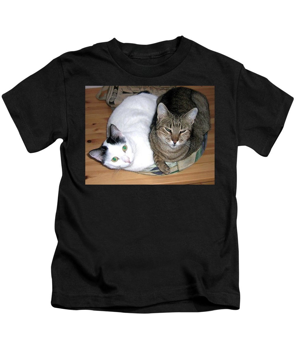 Cat Kids T-Shirt featuring the photograph True Love by Valerie Ornstein