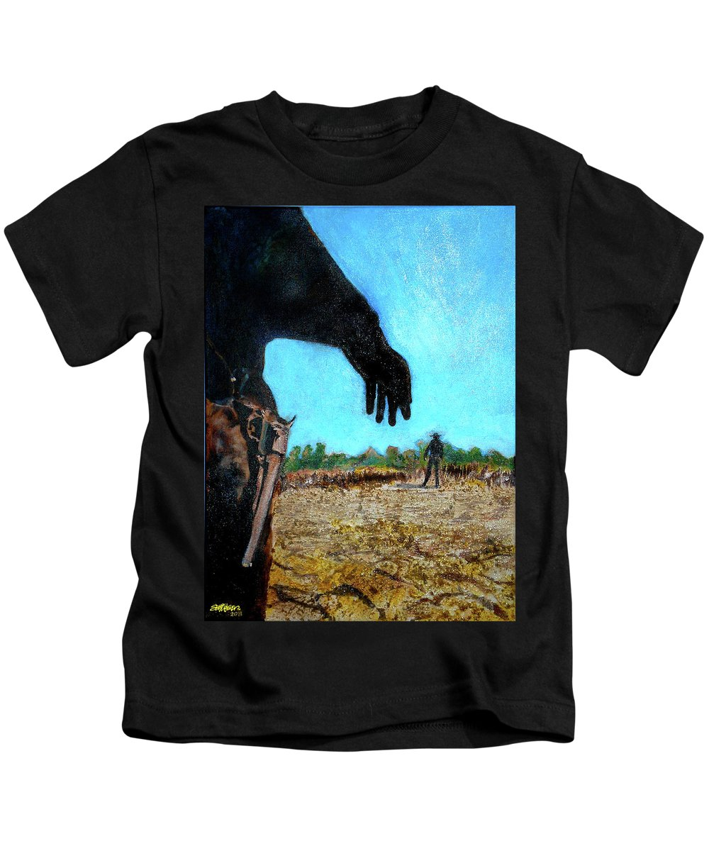 Tuco Kids T-Shirt featuring the painting Tuco by Seth Weaver