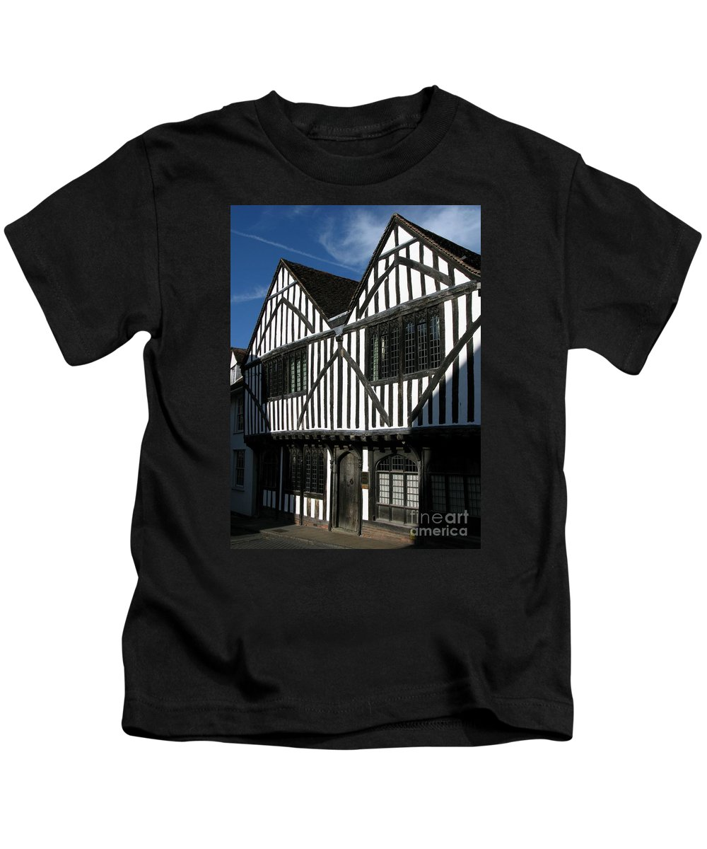 Tudor Kids T-Shirt featuring the photograph Tudor Timber by Ann Horn