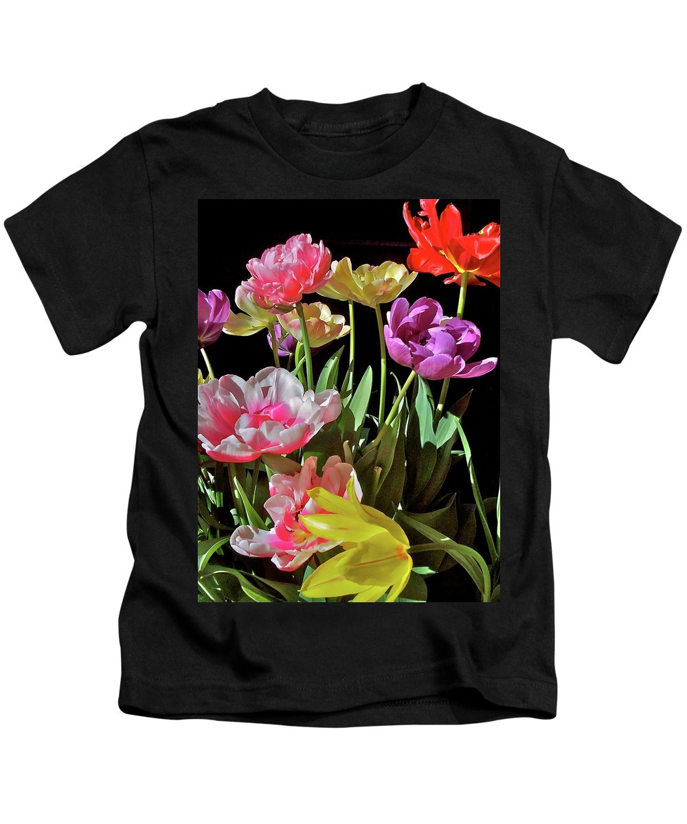 Flowers Kids T-Shirt featuring the photograph Tulip 8 by Pamela Cooper