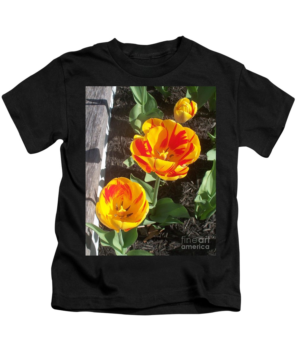 Tulip Kids T-Shirt featuring the photograph Tulip Red And Orange by Eric Schiabor