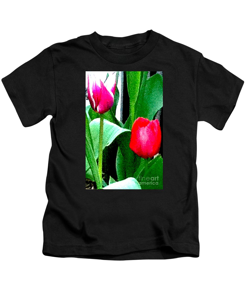 Flower Kids T-Shirt featuring the photograph Tulips 2 by Ken Lerner