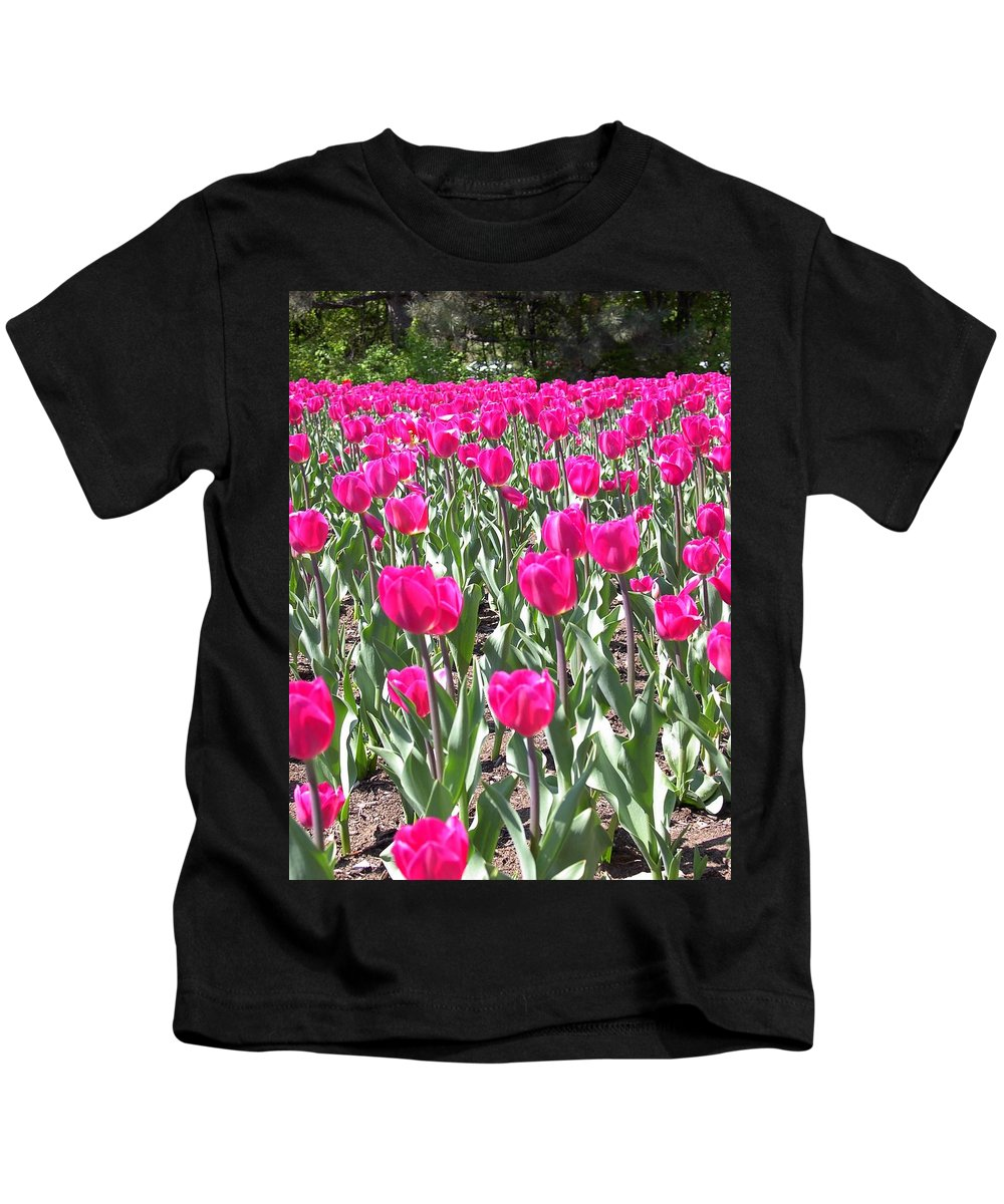 Charity Kids T-Shirt featuring the photograph Tulips by Mary-Lee Sanders