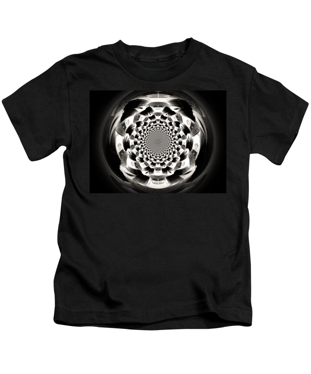 Orb Kids T-Shirt featuring the digital art Tunnel Illusion by Charleen Treasures