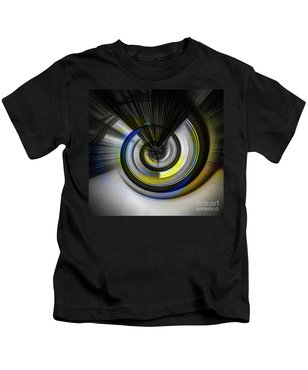 Blue Kids T-Shirt featuring the digital art Tunnel To Nowhere by Chellie Bock