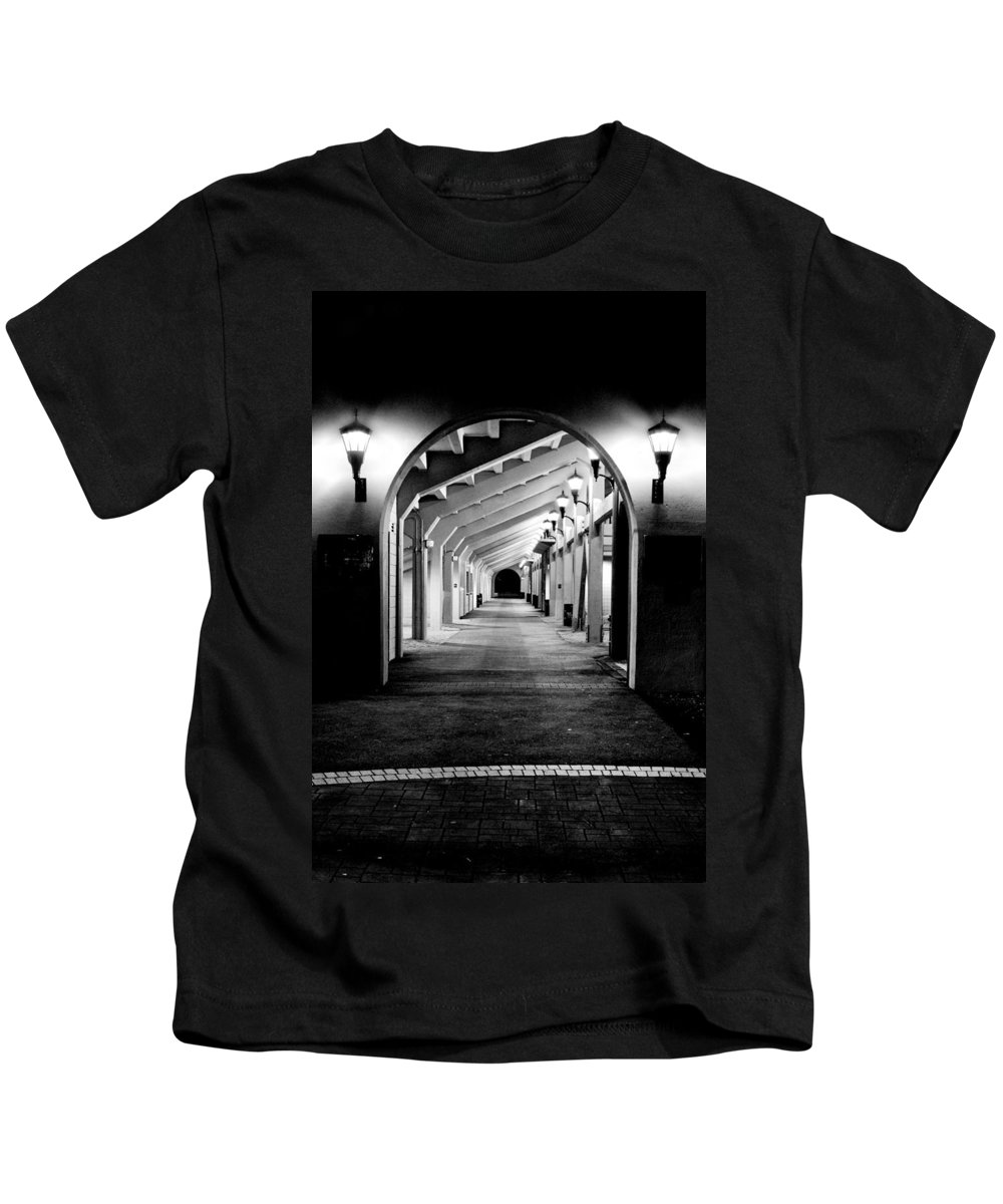 Perspective Kids T-Shirt featuring the photograph Tunnel Vision by Greg Fortier