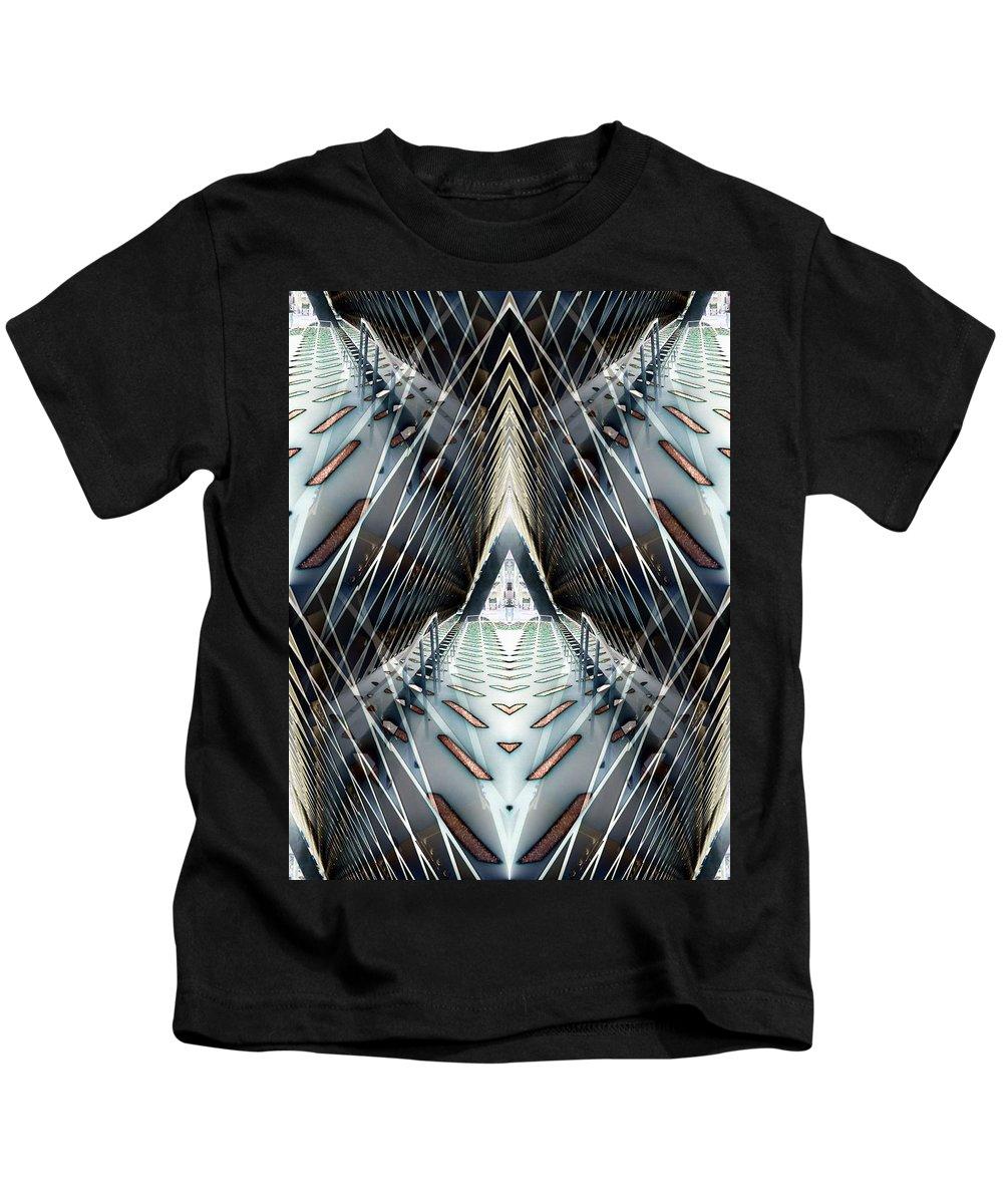 Seattle Kids T-Shirt featuring the digital art Tunnels End by Tim Allen