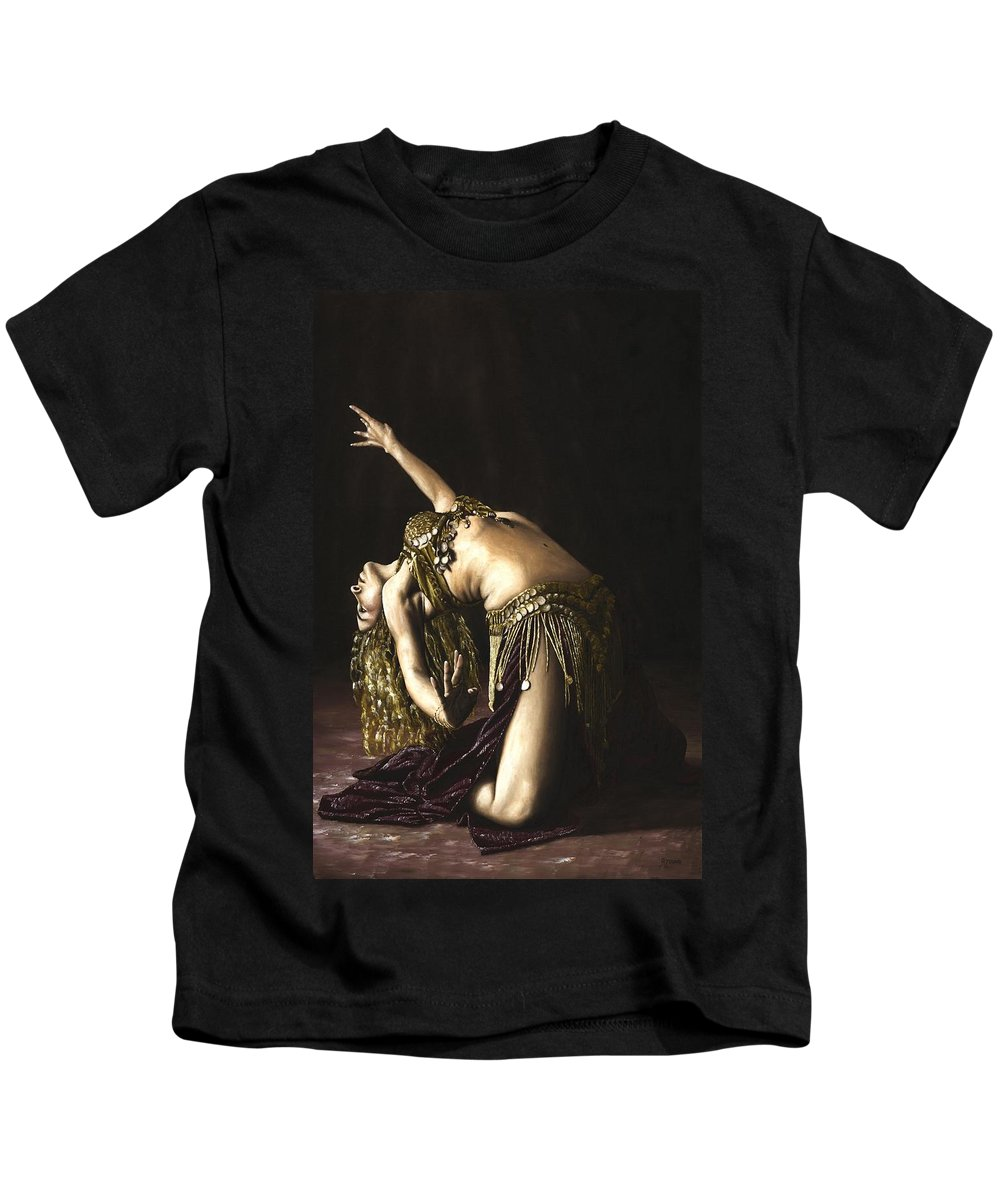 Turkish Kids T-Shirt featuring the painting Turkish Delight by Richard Young