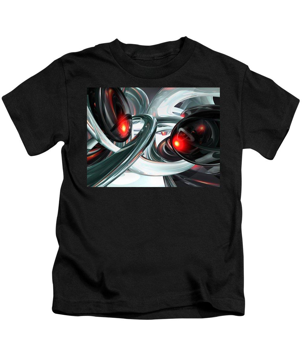 3d Kids T-Shirt featuring the digital art Turmoil Abstract by Alexander Butler