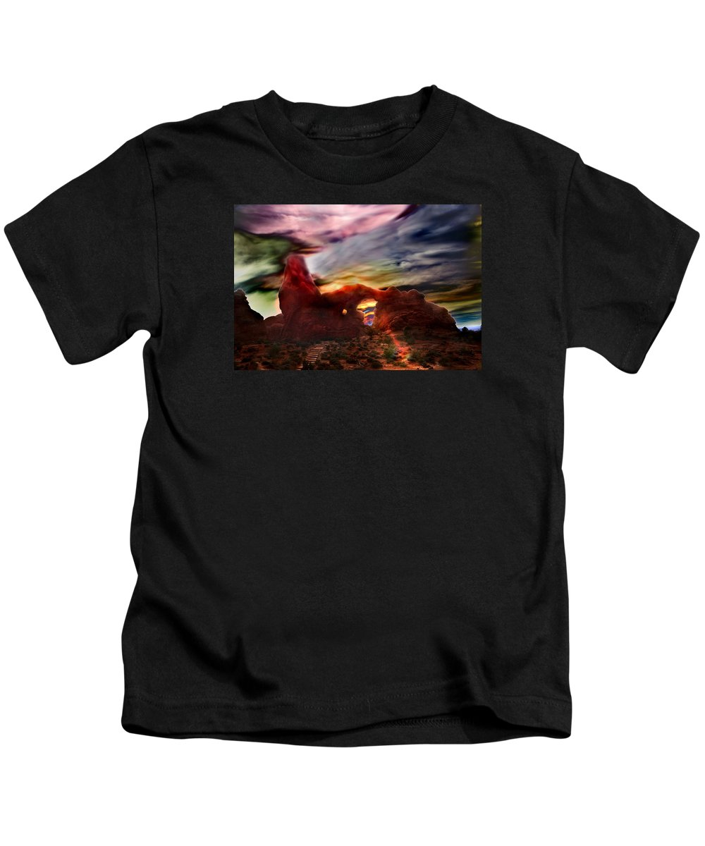 Turret Storm Kids T-Shirt featuring the photograph Turret Storm by Martin Massari