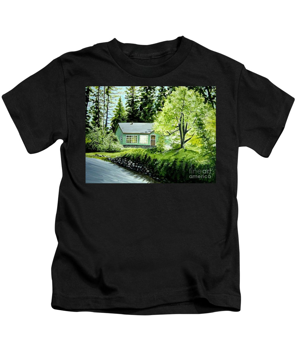 Landscape Kids T-Shirt featuring the painting Twaine Harte by Elizabeth Robinette Tyndall