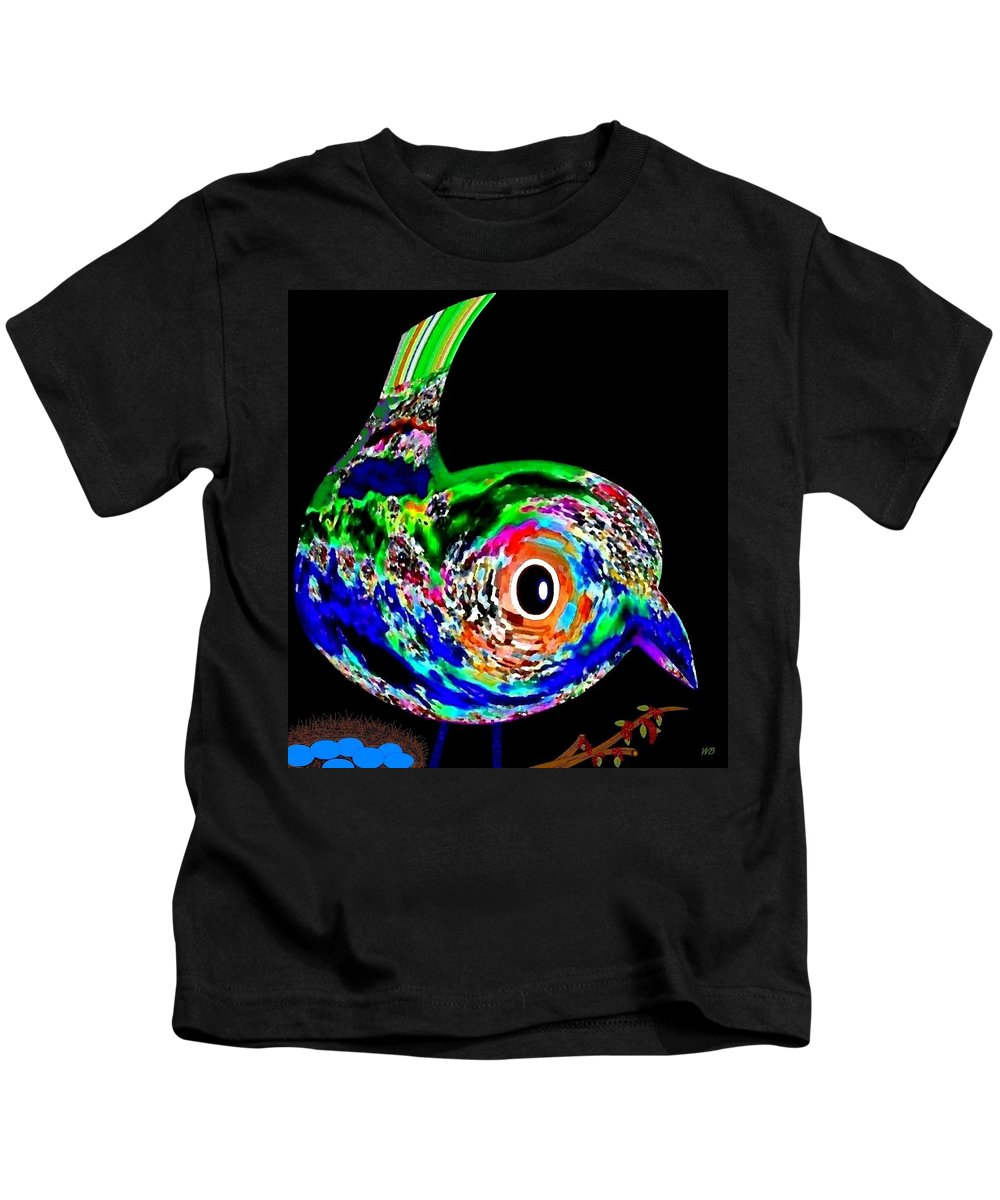 Abstract Kids T-Shirt featuring the digital art Tweeter by Will Borden